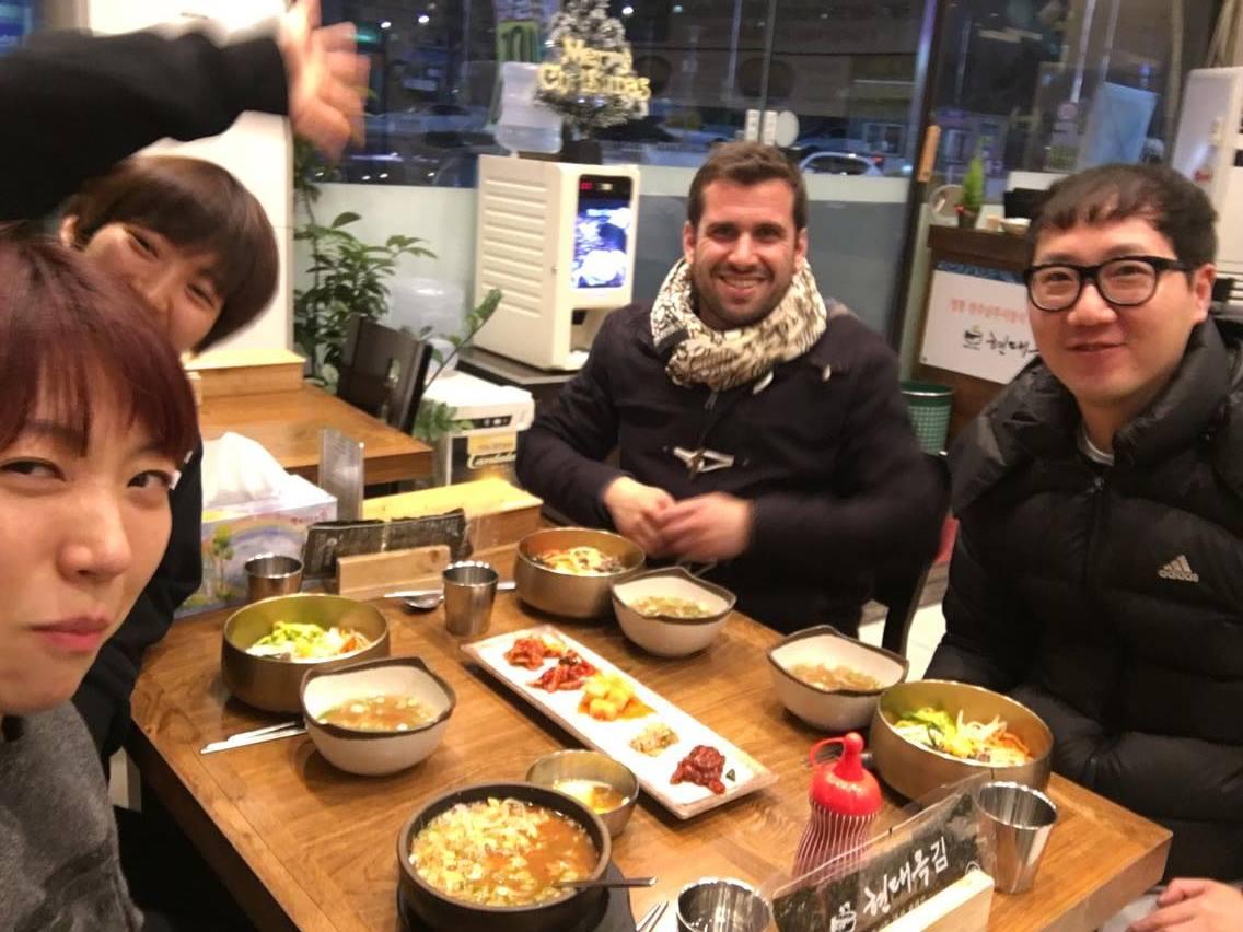 Ka Beom Seok, HK Gong, Sunim Kim Filip Maric Aunkai Yoga Bibimbap Seoul 2016 1