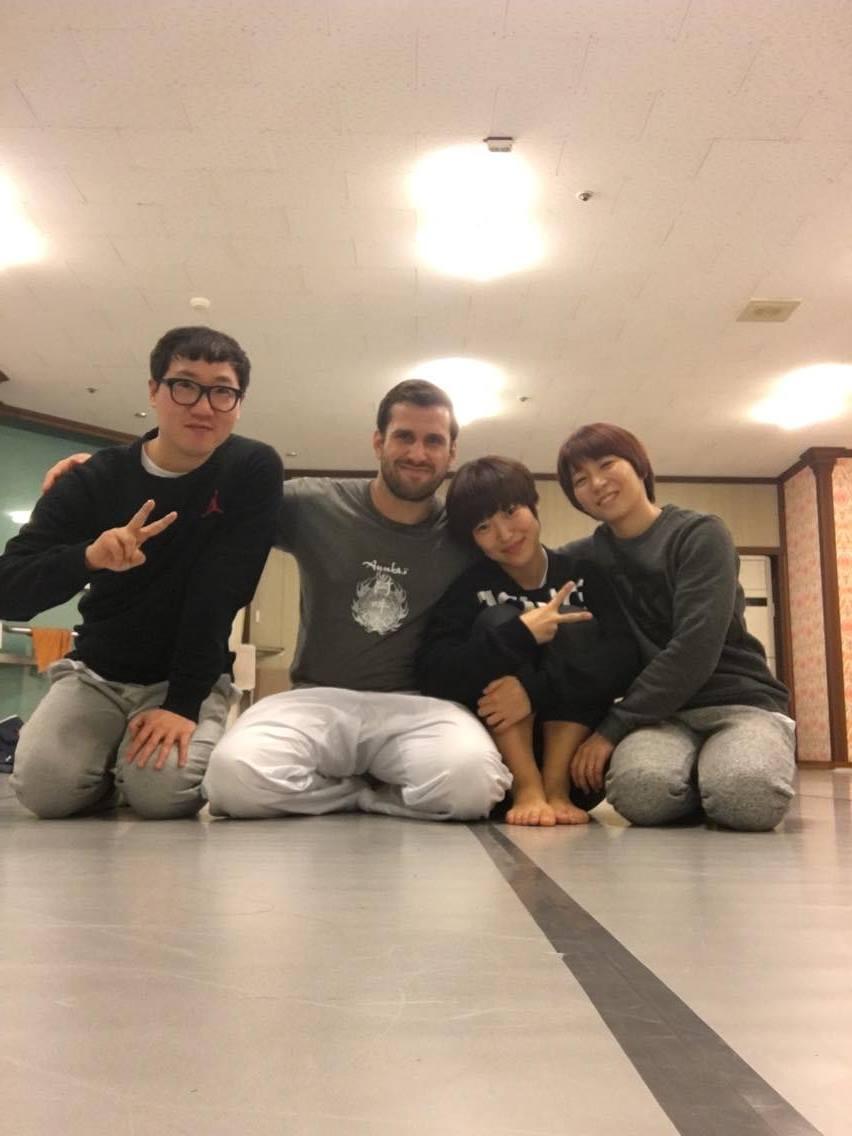 Ka Beom Seok, HK Gong, Sunim Kim Filip Maric Aunkai Yoga Bibimbap Seoul 2016 3