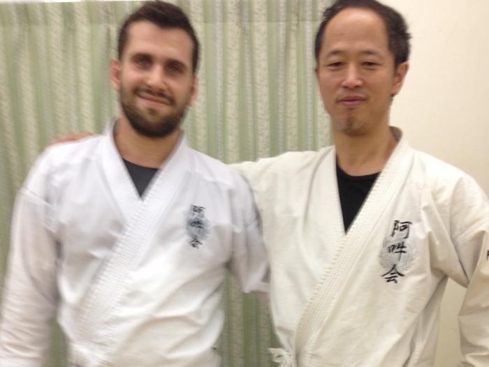 Aunkai Tokyo - Akuzawa Minoru Sensei and Filip Maric